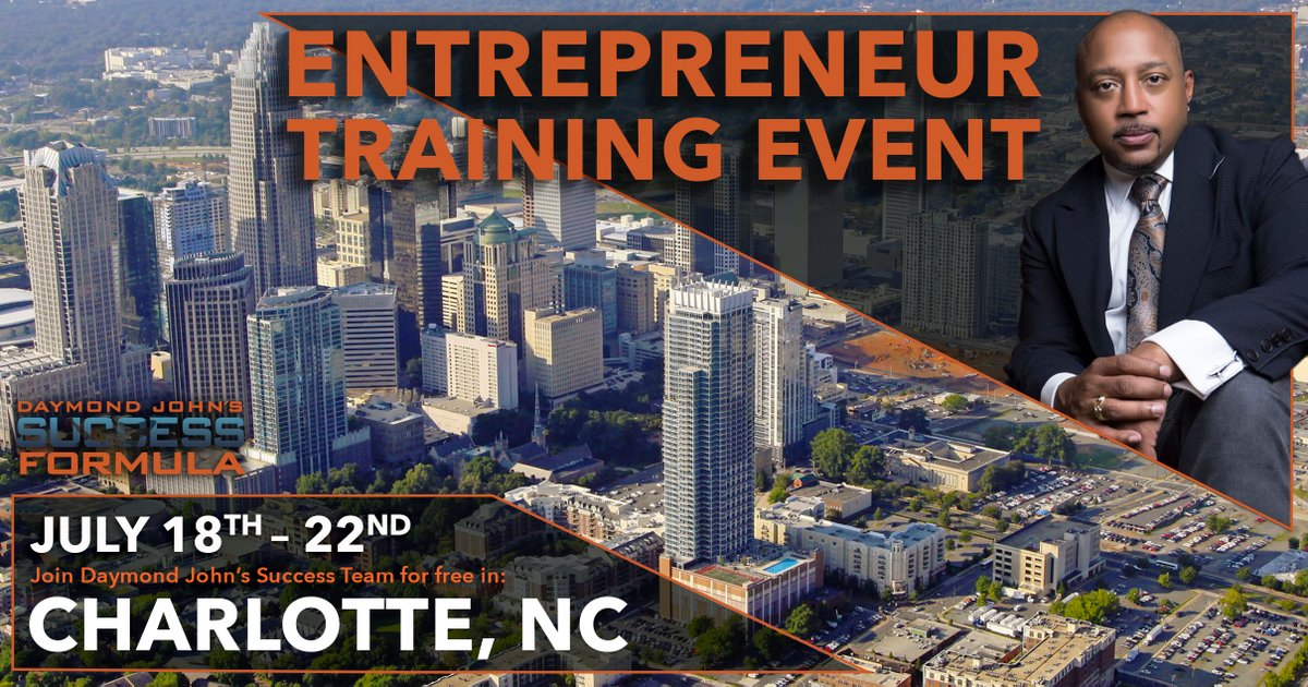 Daymond John's Success Formula | Free Entrepreneur Training Event | Charlotte NC