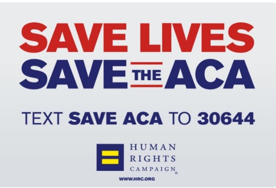 HRC Text Campaign to Save ACA