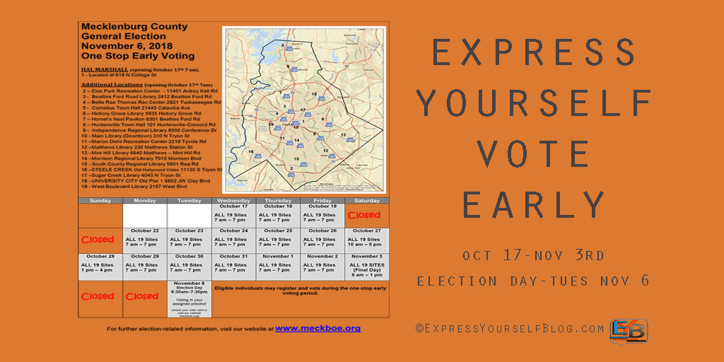Early Voting Schedule | Mecklenburg County NC