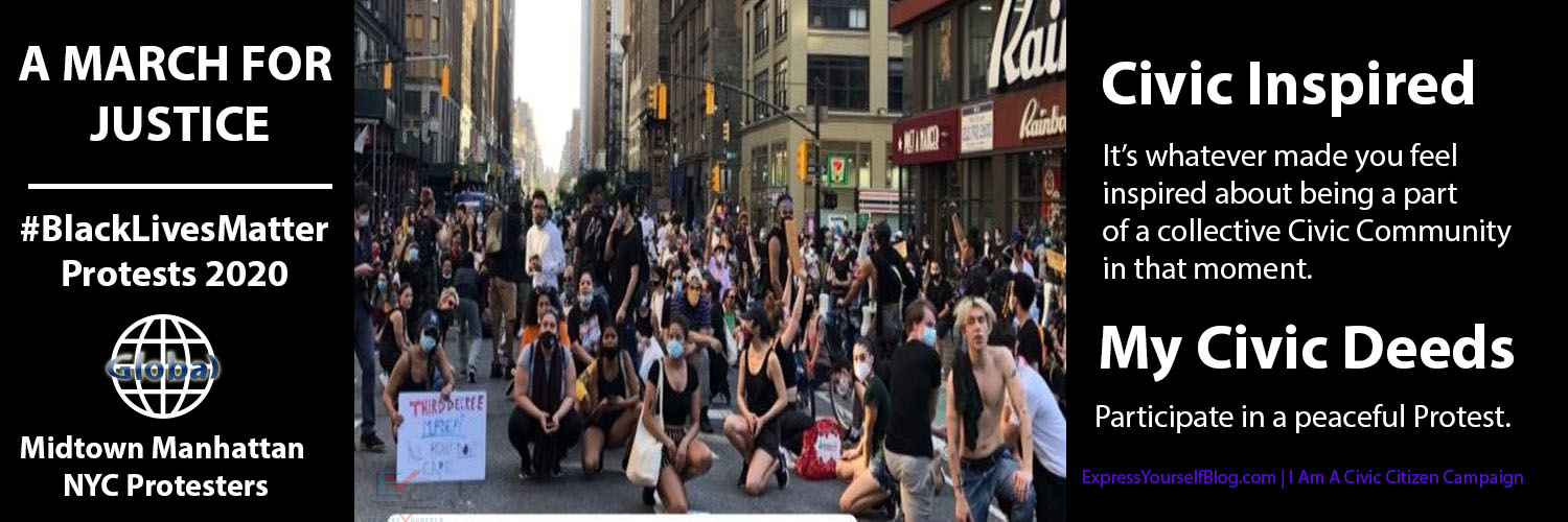 Black Lives Matter Protests 2020 | NYC Protesters Kneel In Solidarity: Civic Inspired